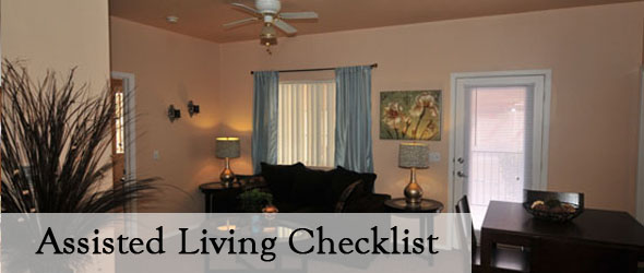 Checklist For Assisted Living Peoria Arizona
